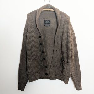 All Saints Men's Furness Alpaca Patch Cardigarn